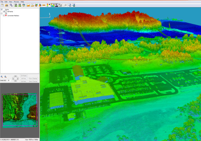 LiDAR Point Cloud in ENVI LiDAR
