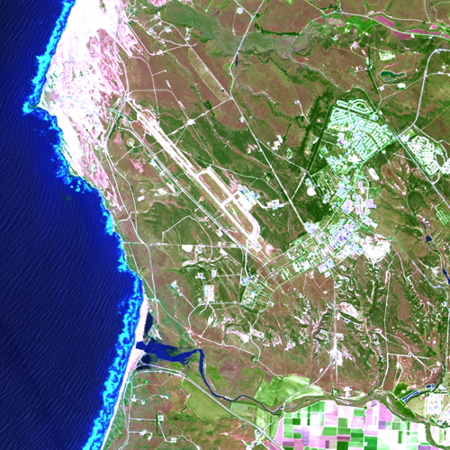 Landsat 8 image of Vandenberg Air Force Base